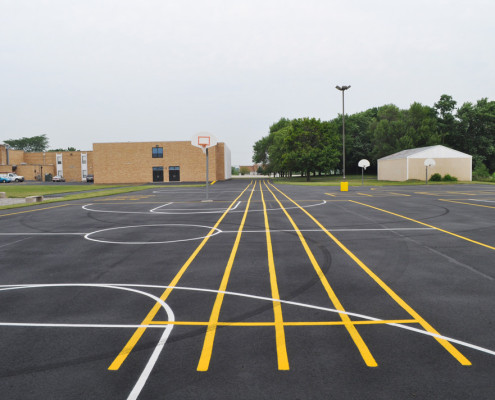 Yorkville School asphalt maintenance