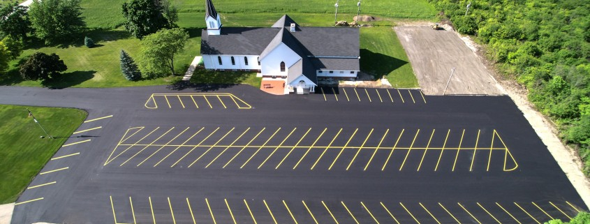 New Asphalt Lot North Cape Wi